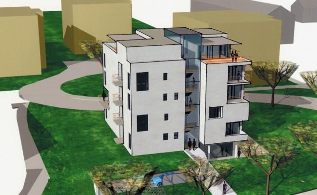 Mehrfamilienhaus 3D-Studie