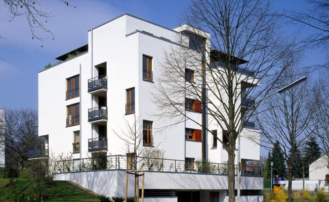 mehrfamilienhaus mit 14 wohneinheiten poggel architekten. Black Bedroom Furniture Sets. Home Design Ideas