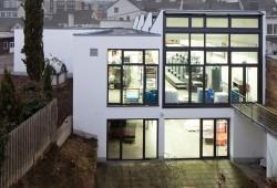 Druckereigebäude Nordseite / Garten