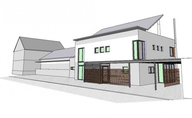 Familienhaus 3D Skizze