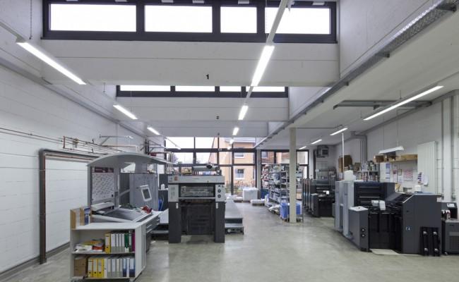 Druckereigebäude innen
